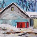 Barnyard In Winter by John Williams