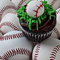 Baseball Cupcake by Garry Gay