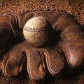 Baseball In Glove by John Wong
