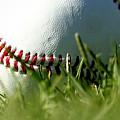 Baseball in Grass Print by Chris Brannen