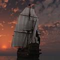 Bateau De Pirate by Steven Palmer