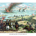 Battle Between The Monitor And Merrimac by War Is Hell Store