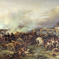 Battle Of Montereau by Jean Charles Langlois