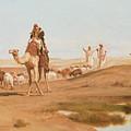 Bedouin In The Desert by Frederick Goodall