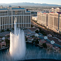 Bellagio Fountains At Dusk by Andy Smy