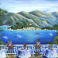 Bellagio From The Cafe by Marilyn Dunlap