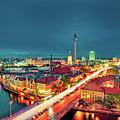 Berlin City At Night by Matthias Haker Photography