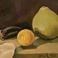 Big Grapefruit by Raimonda Jatkeviciute-Kasparaviciene