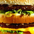 Big Mac - Painterly by Wingsdomain Art and Photography