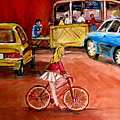 Biking To The Orange Julep by Carole Spandau