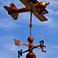 Biplane Weather Vane by Garry Gay
