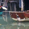 Bird On Boat Oar - Hong Kong by Gordon Wood