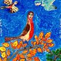 Bird People Robin by Sushila Burgess