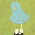 Bitty Bird's New Shoes Nursery Art by Katie Carlsruh