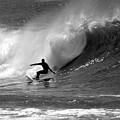 Black And White Surfer by Paul Topp