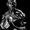 Black Boxer In Black And White 05 by Val Black Russian Tourchin