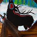 Black Elk Drum Painting by Karon Melillo DeVega