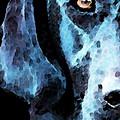 Black Labrador Retriever Dog Art - Hunter by Sharon Cummings
