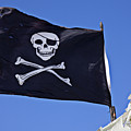 Black Pirate Flag  by Garry Gay