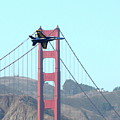 Blue Angels Crossing The Golden Gate Bridge 3 by Wingsdomain Art and Photography