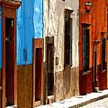 Blue Casa Row by Mexicolors Art Photography