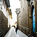 Blue Door In Cusco by Darcy Michaelchuk