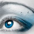 Blue Female Eye Macro With Artistic Make-up by Oleksiy Maksymenko