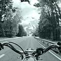 Blue Harley by Micah May