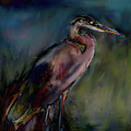 Blue Heron Painting II by Don  Wright