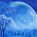 Blue Night Moon by Ashleigh Dyan Bayer