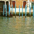 Blue Poles In Venice by Michael Henderson
