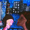 Blue Promenade by Nina Talbot