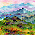 Blue Ridge Mountains Georgia Landscape  Watercolor  by Ginette Callaway