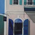 Blue Shutters In Charlotte Amalie by Robert Rohrich