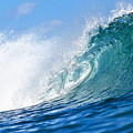 Blue Tube Wave by Paul Topp