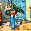 Blue Vase By Paul Cezanne by Pg Reproductions