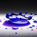 Blue Water Drop 2 by Michael Dykstra