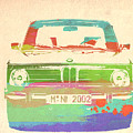 Bmw 2002 Front Watercolor 3 by Naxart Studio