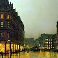 Boar Lane by John Atkinson Grimshaw