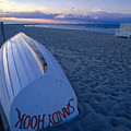 Boat On The New Jersey Shore At Sunset by George Oze