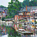 Boathouse Row In Philadelphia by Bill Cannon