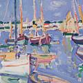 Boats At Royan by Samuel John Peploe