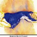 Borzoi Blue Flight by Kathleen Sepulveda