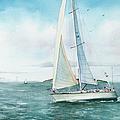 Boston Harbor Islands Print by Laura Lee Zanghetti