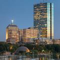 Boston Night Skyline Iv by Clarence Holmes
