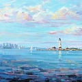 Boston Skyline by Laura Lee Zanghetti