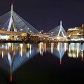 Boston Zakim Memorial Bridge Nightscape II by Shane Psaltis