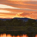 Boulder County Lake Sunset Vertical Image 06.26.2010 by James BO  Insogna