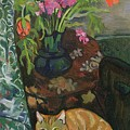 Bouquet And A Cat by Marie Clementine Valadon