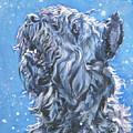 Bouvier Des Flandres Snow by Lee Ann Shepard